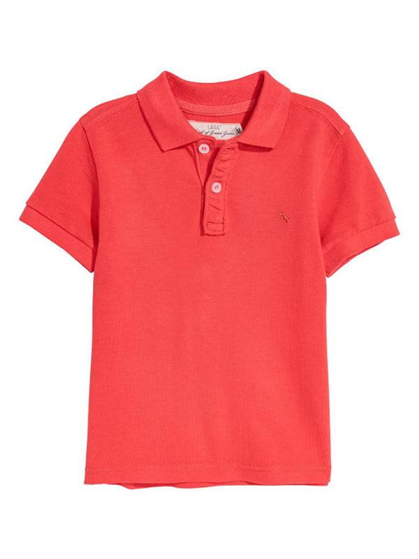 Футболка-поло червона | 5231580