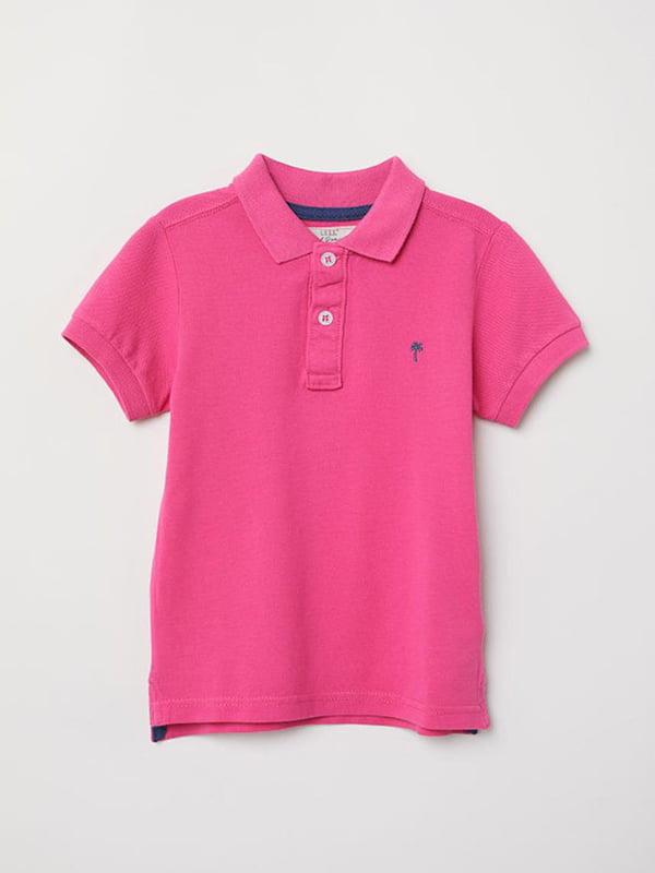 Футболка-поло рожева | 5231583