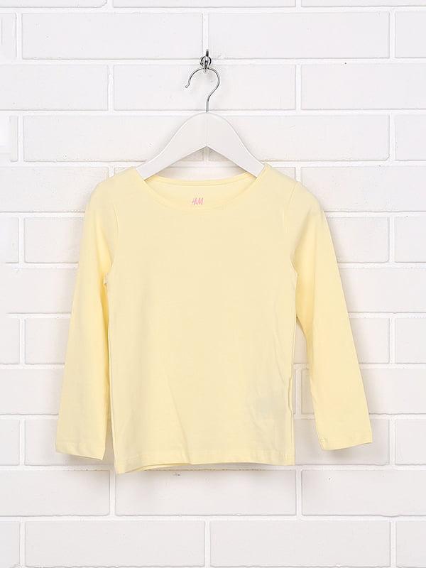 Лонгслів жовтий | 5231615