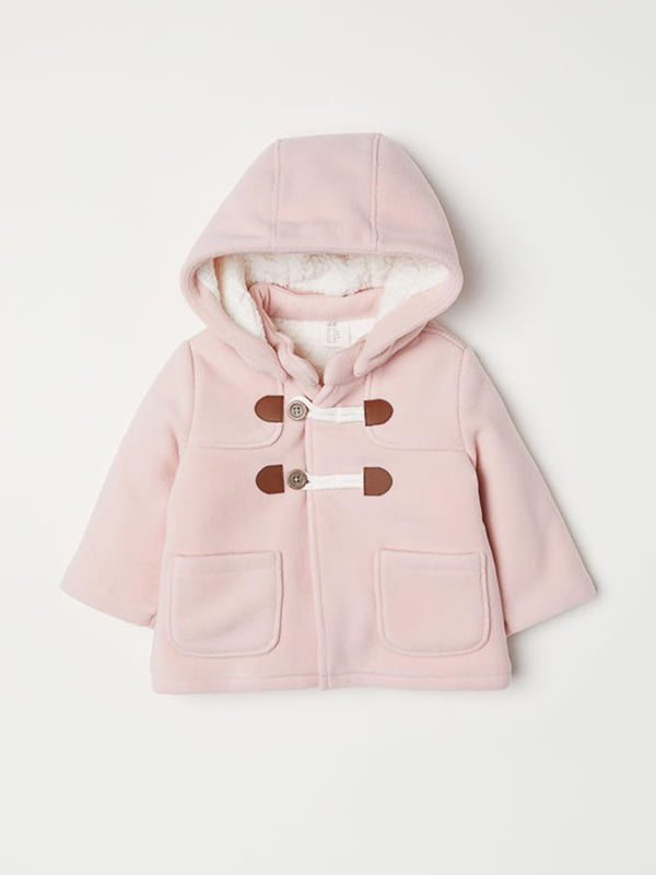Куртка рожева флісова | 5231624