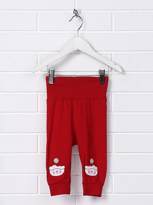 Штани червоні з принтом | 5231410