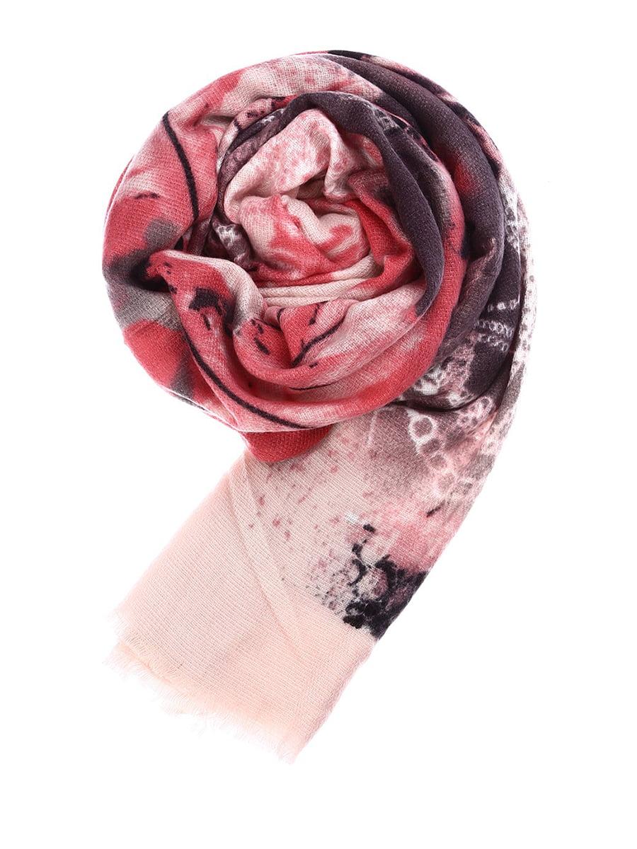 Хустка рожева з принтом | 5233052