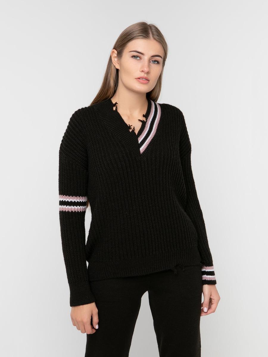 Пуловер чорний | 5237691