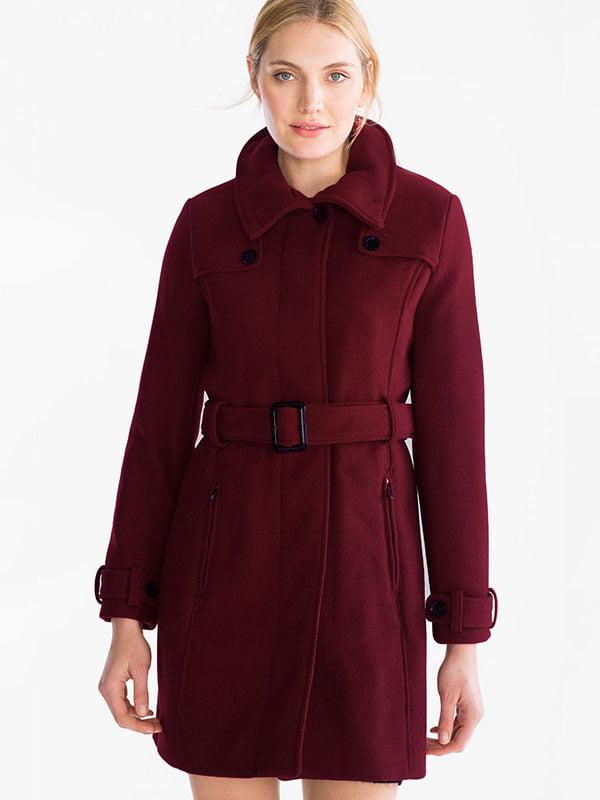 Пальто бордовое   5232468