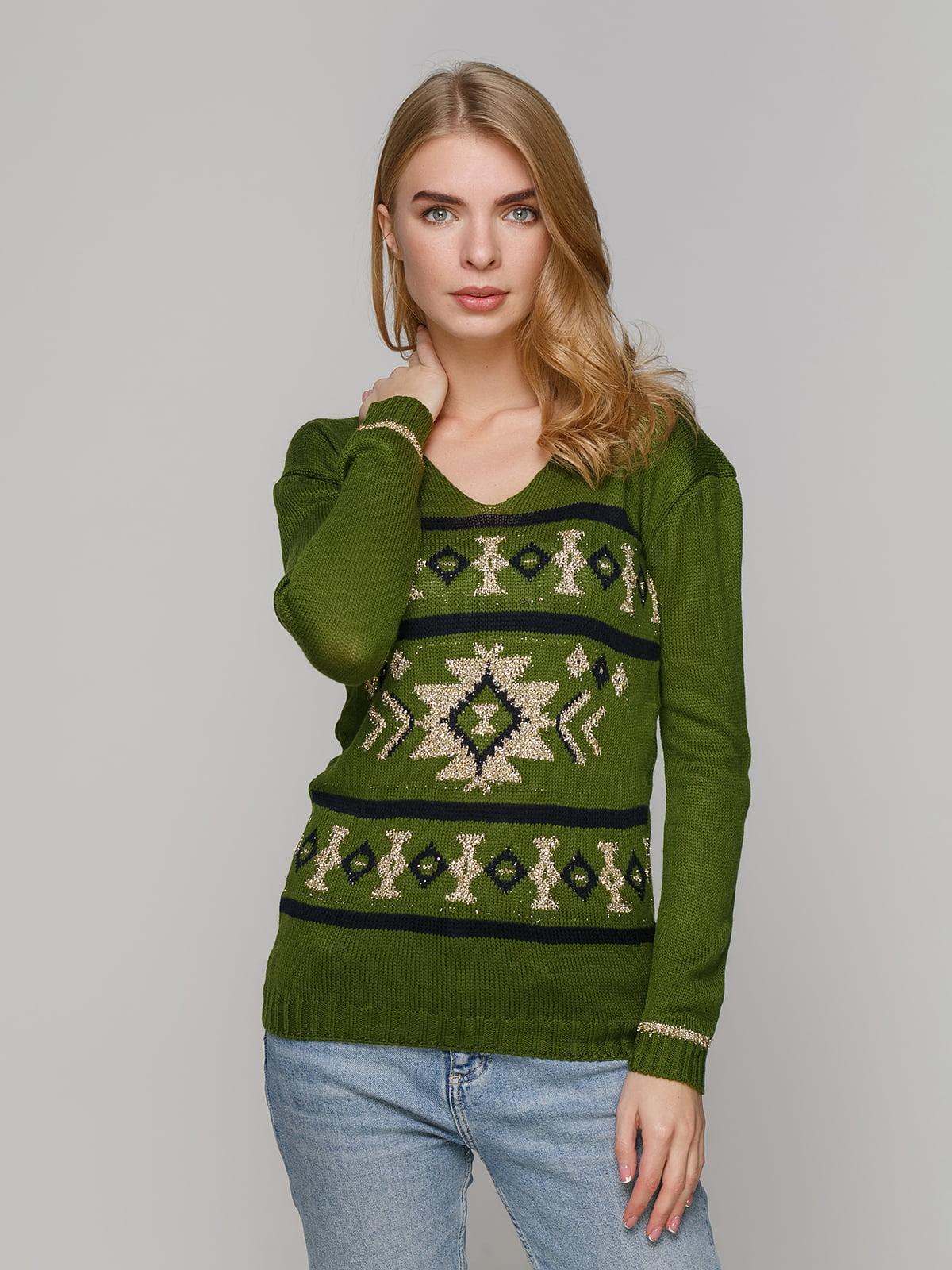 Джемпер темно-зелений | 5215868
