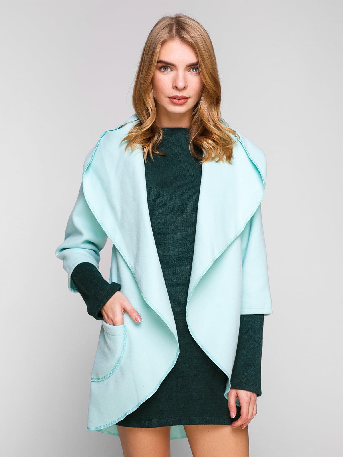 Пальто ментолового цвета | 1881990