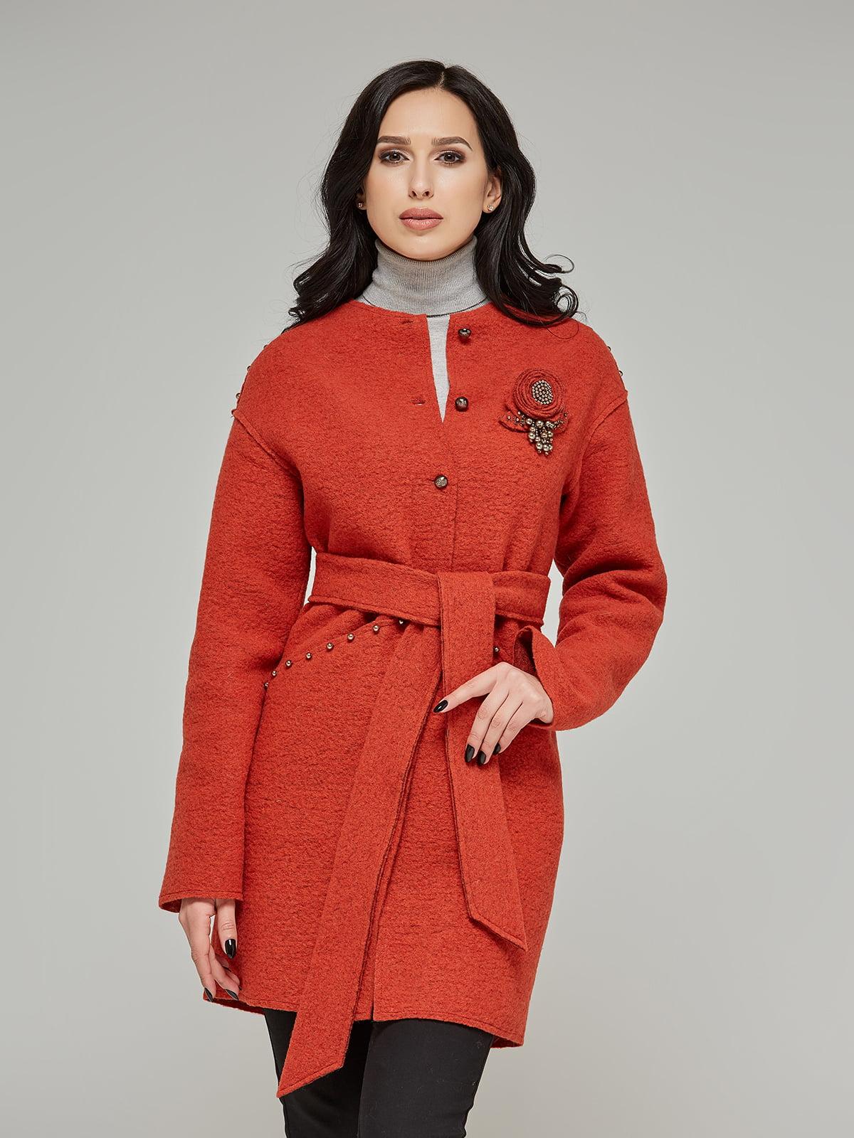 Пальто теракотового кольору | 5224716