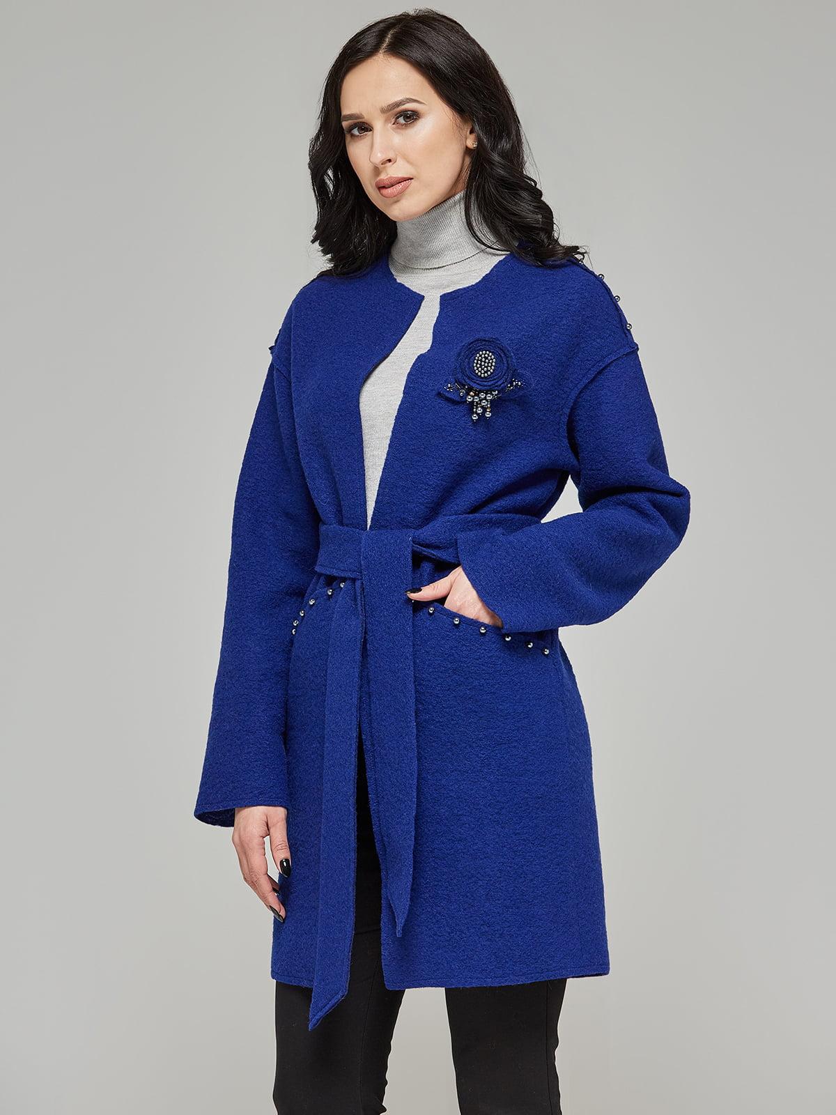 Пальто цвета электрик   5224717