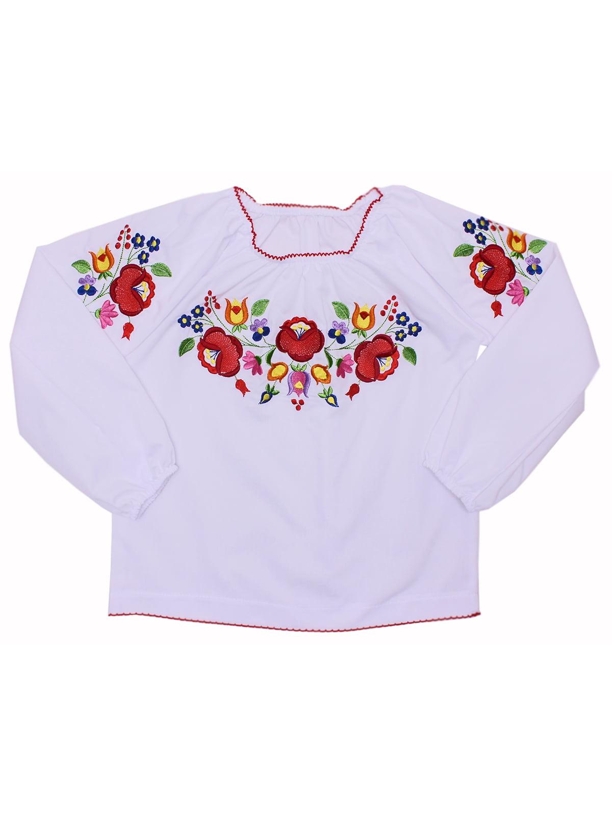 Блуза-вышиванка белая | 5247564