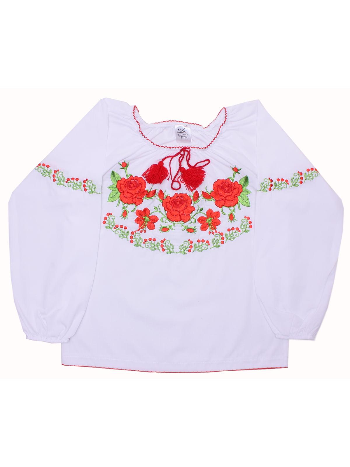 Блузка-вишиванка біла | 5247569