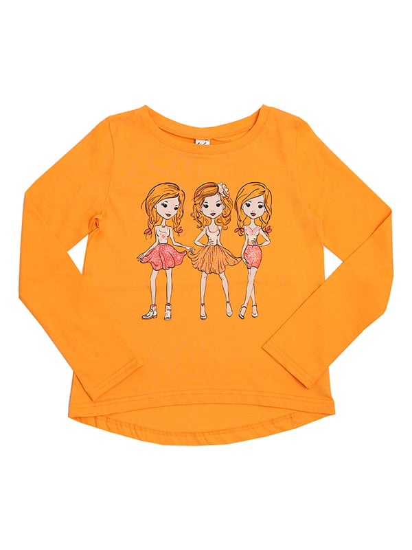 Лонгслив оранжевый | 5248059