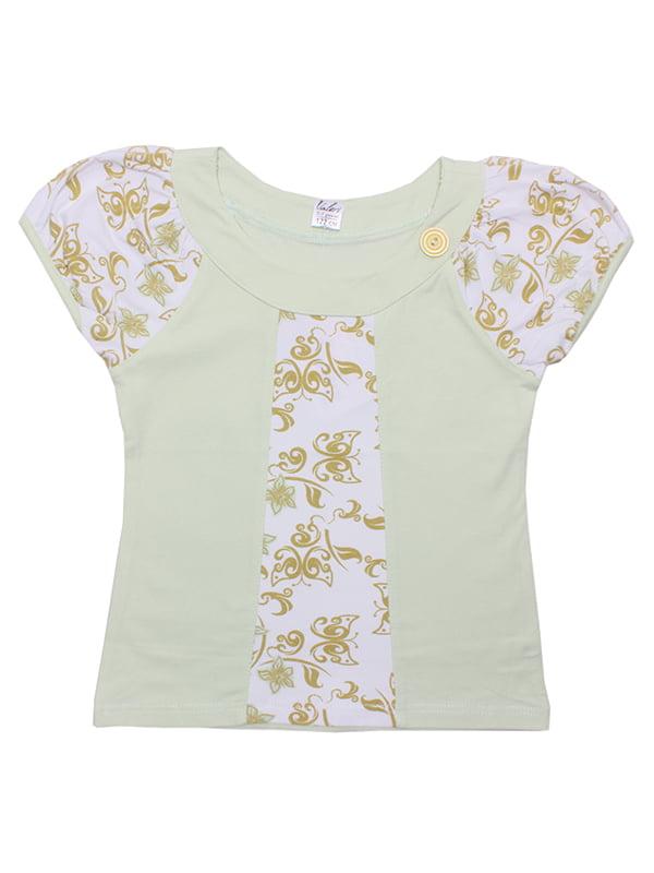 Блуза ментолового цвета | 5248668