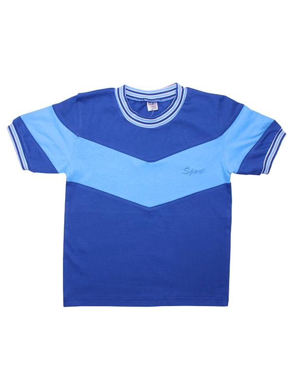 Футболка синяя | 5249126