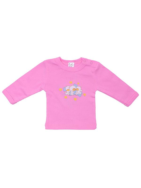 Лонгслів рожевий | 5249152