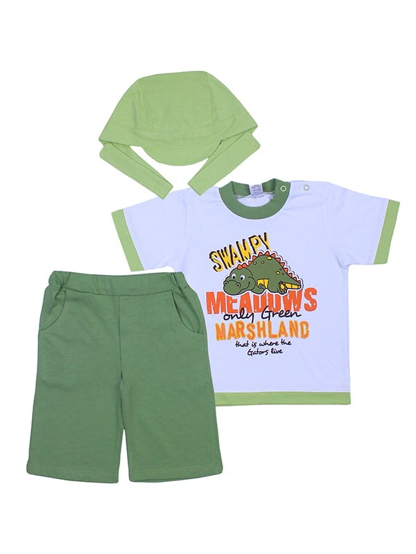 Комплект: футболка, бриджи и бандана | 5249209