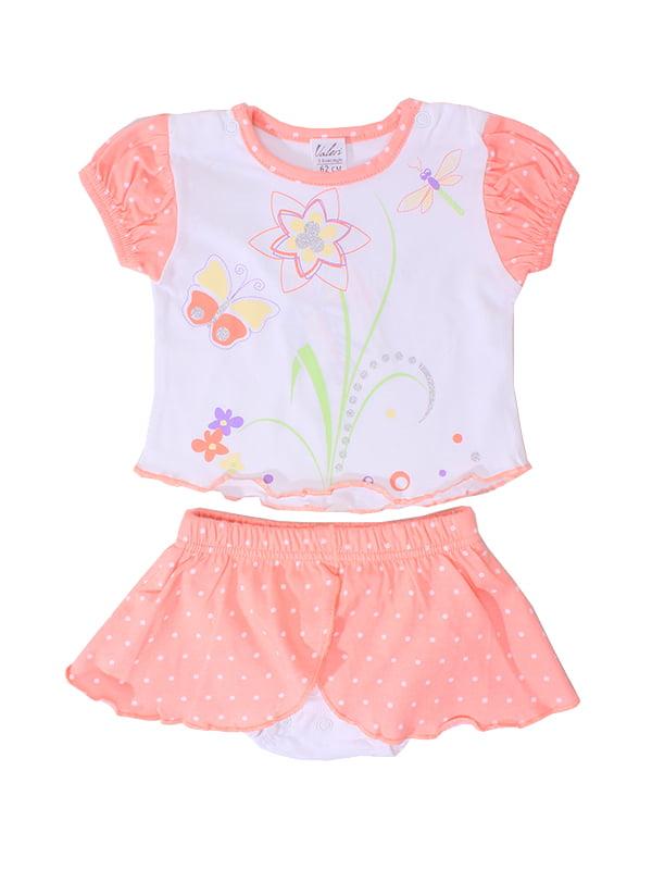 Комплект: футболка и трусы-юбка | 5249228