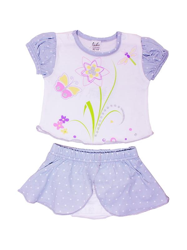 Комплект: футболка и трусы-юбка | 5249229