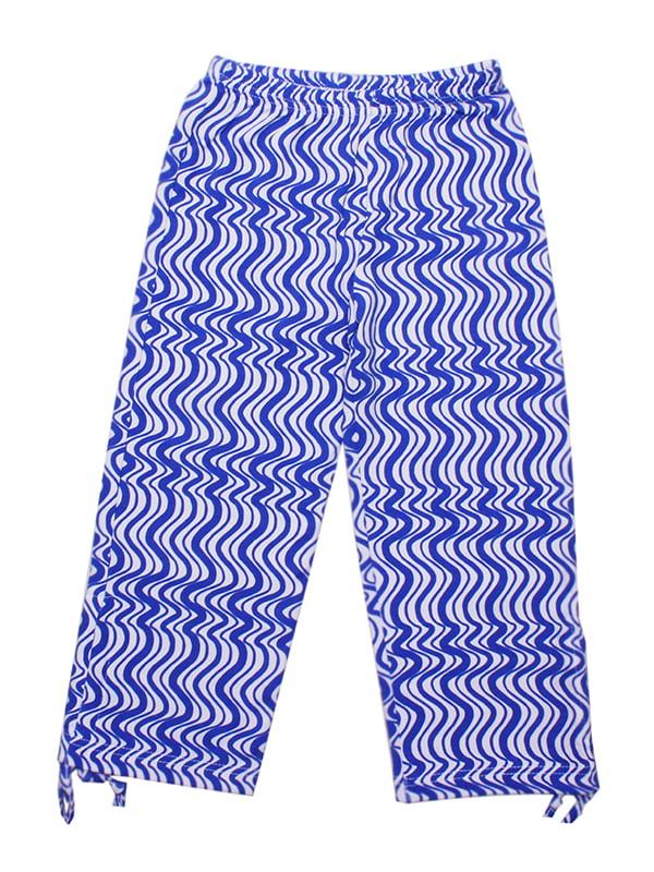 Штани сині в принт | 5249673