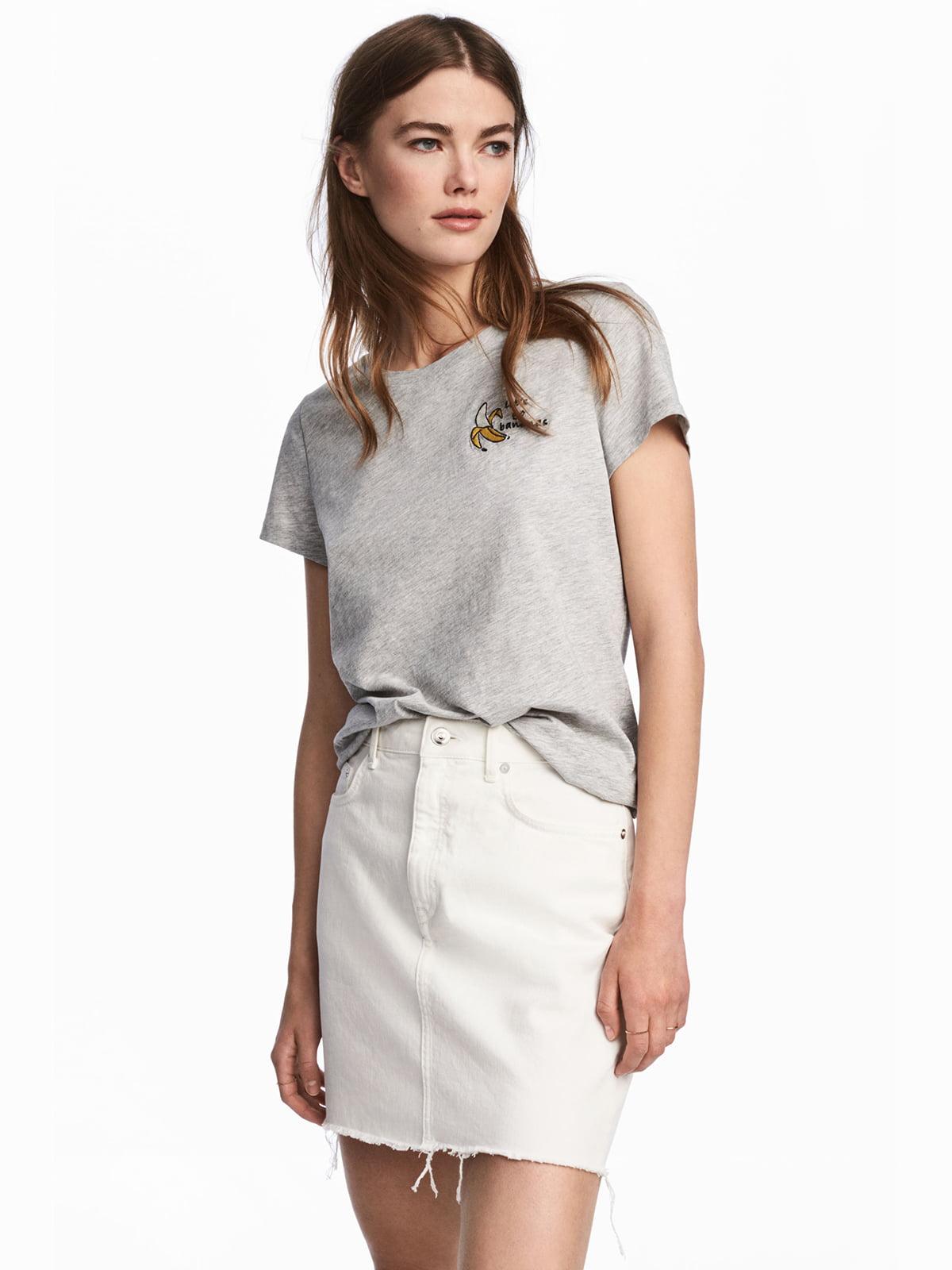 Спідниця джинсова біла | 5244246