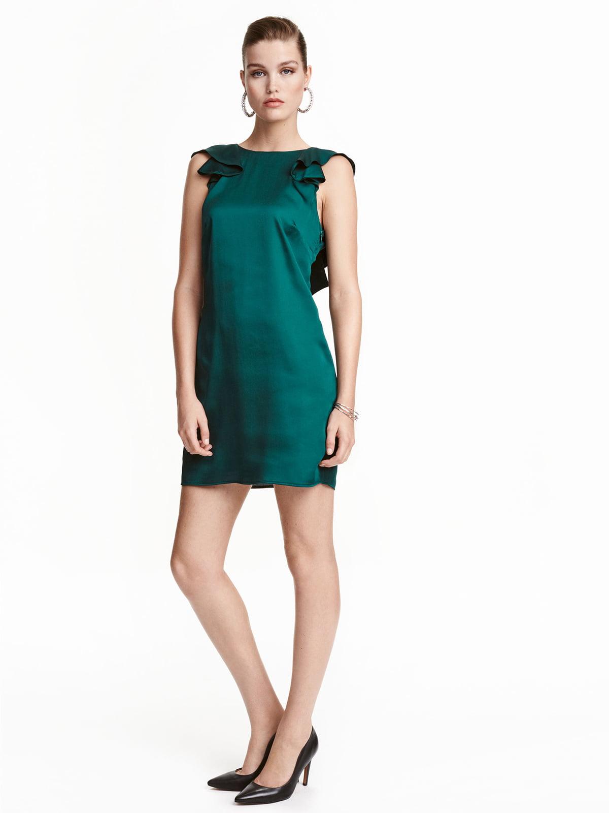 Платье темно-зеленое | 5244495