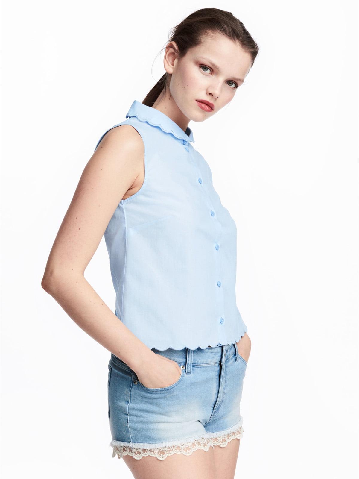 Блуза светло-голубая   5244671