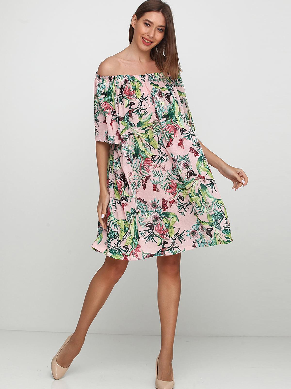 Платье комбинированной расцветки   5245189