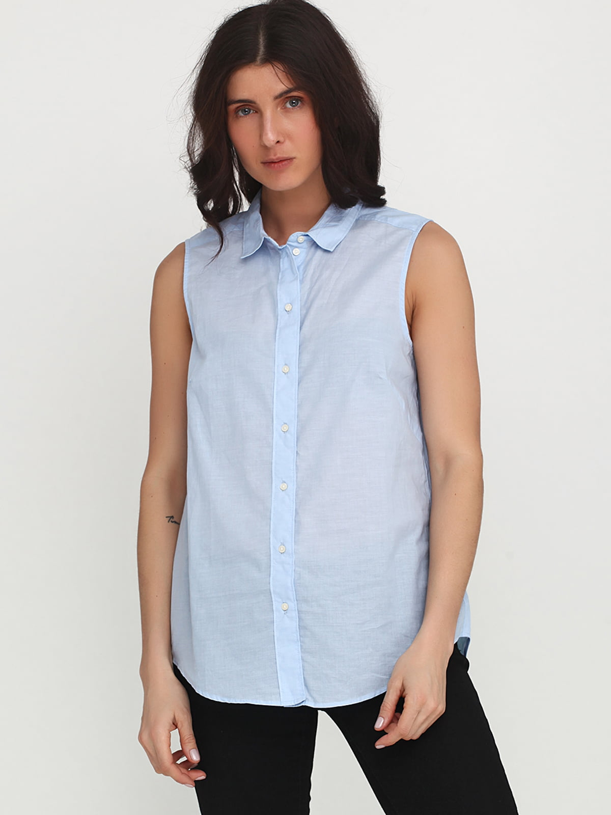 Блуза голубая   5245249