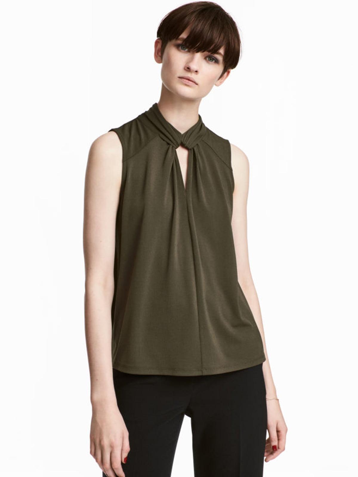 Блуза цвета хаки | 5245293
