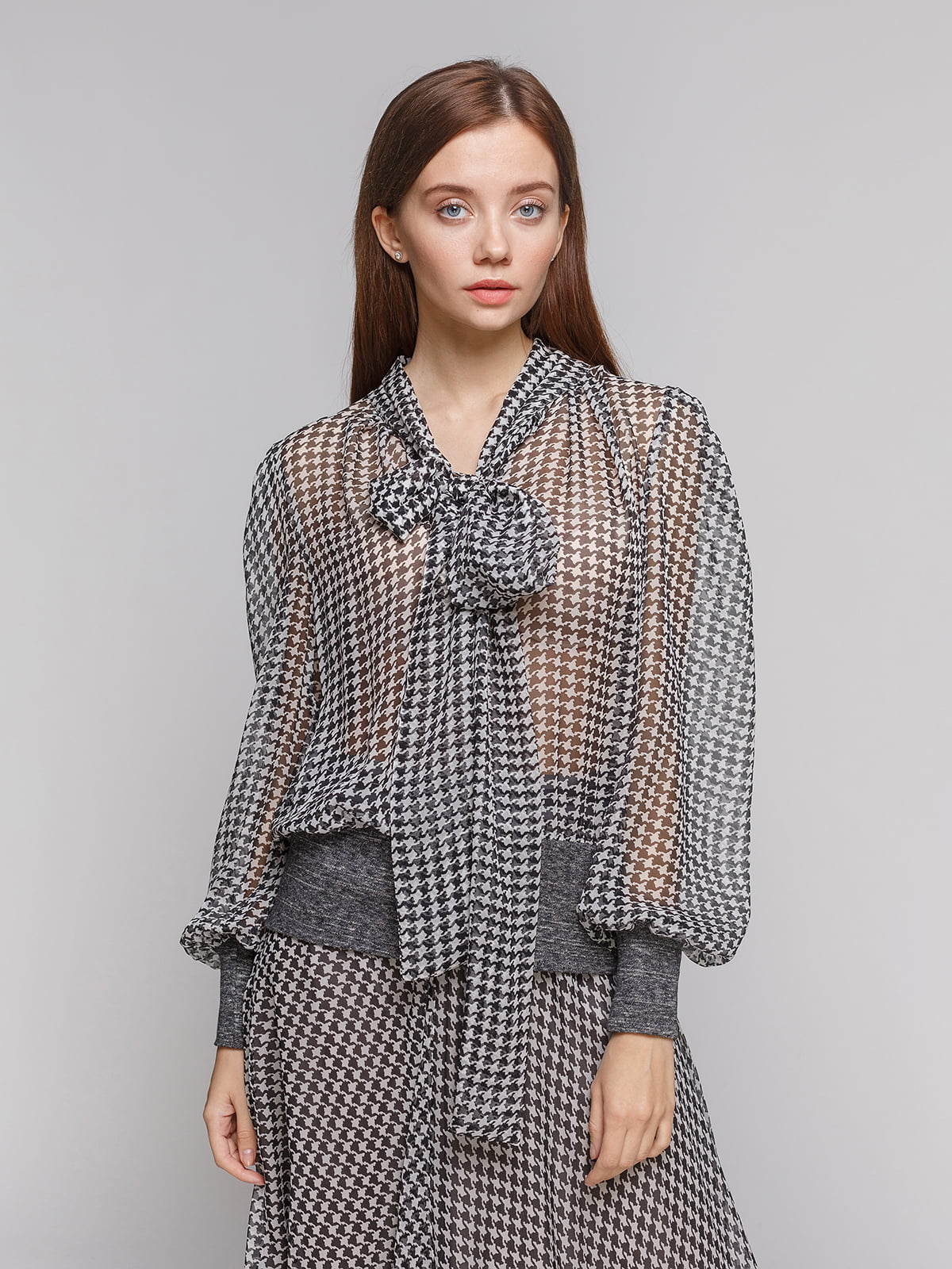 Блуза чорно-біла | 5233253