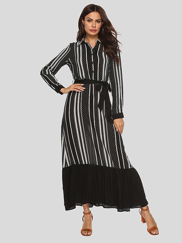 Платье черное с принтом | 5250854