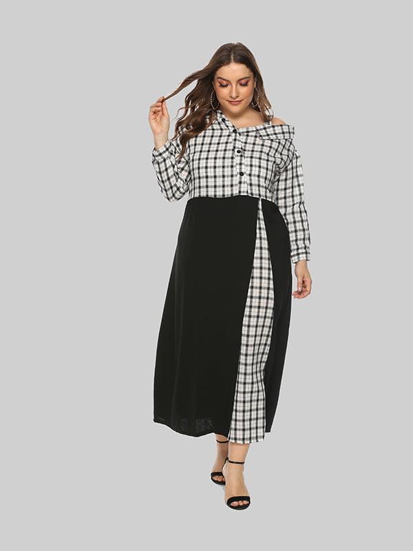 Платье черное с белой клеткой | 5250859