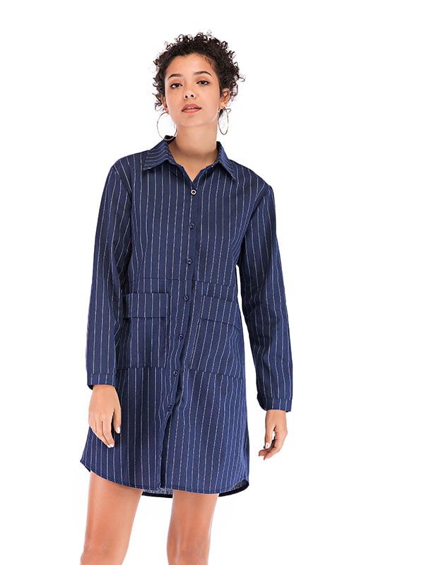 Рубашка темно-синяя   5250881
