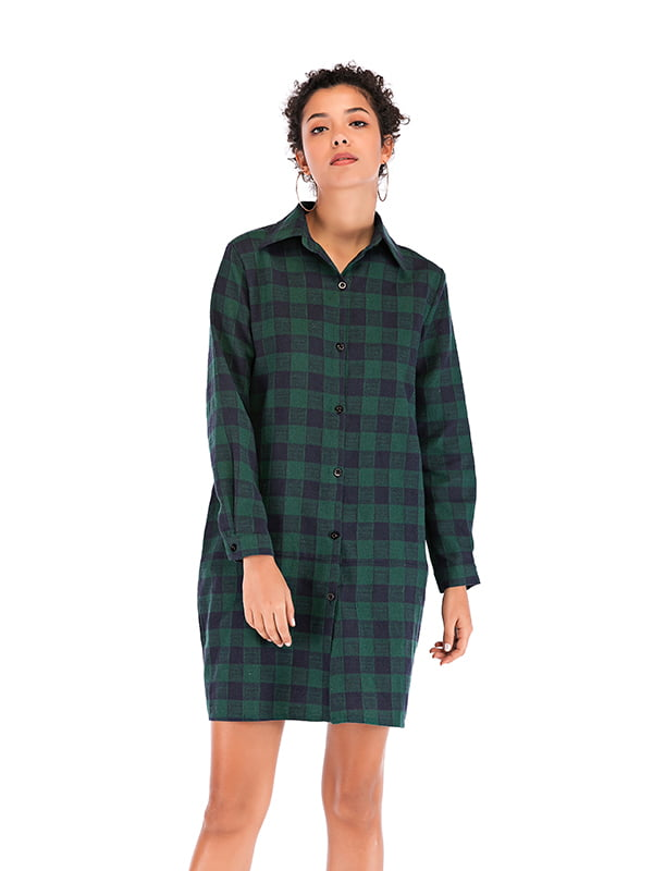 Рубашка зеленая в клетку   5250884