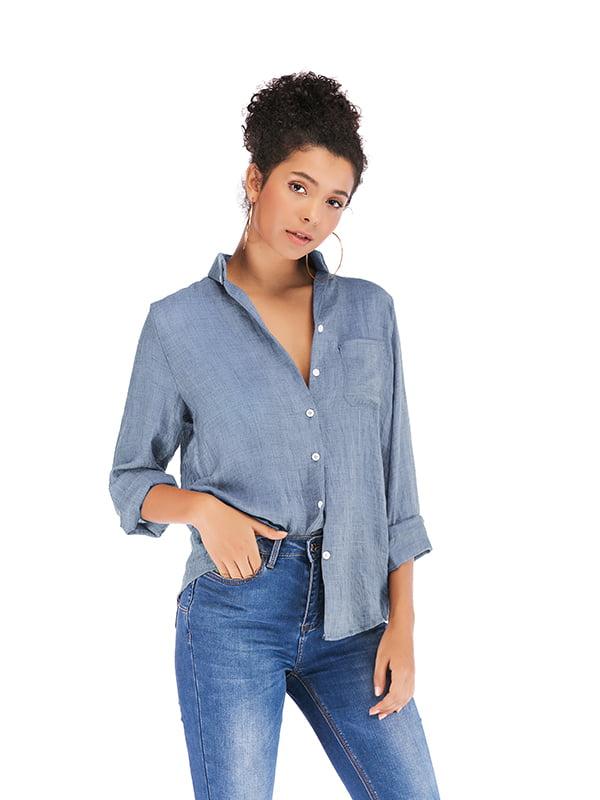 Рубашка синяя | 5250904