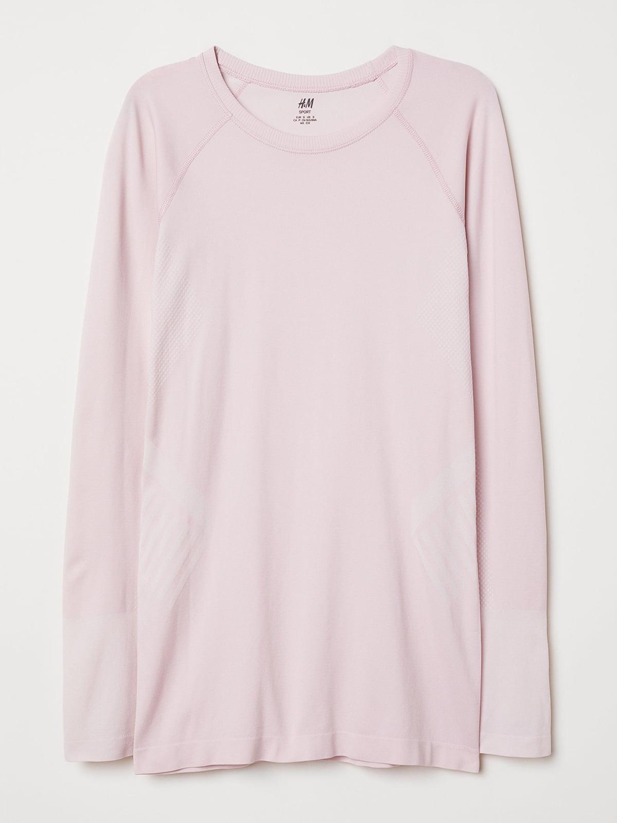 Лонгслив спортивный светло-розовый   5245129