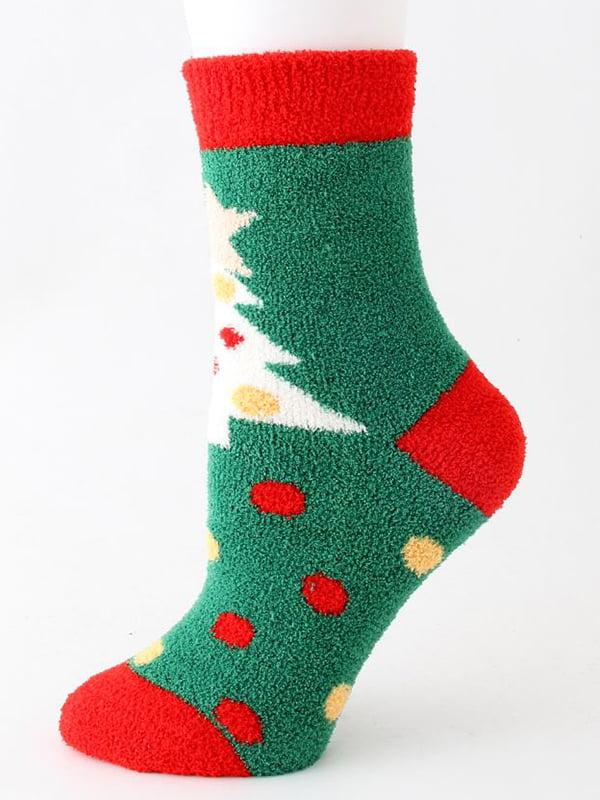 Шкарпетки махрові зелені | 5252690