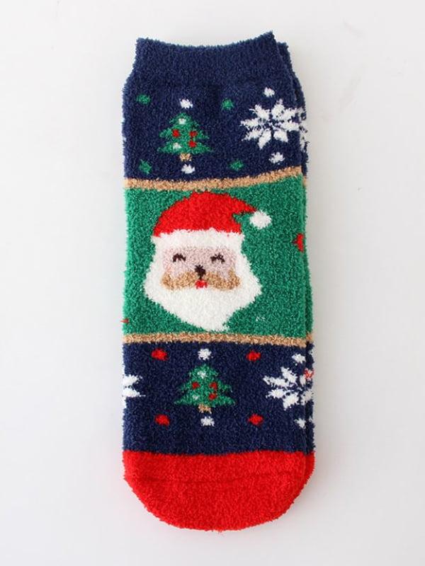 Носки махровые с новогодним рисунком | 5252720