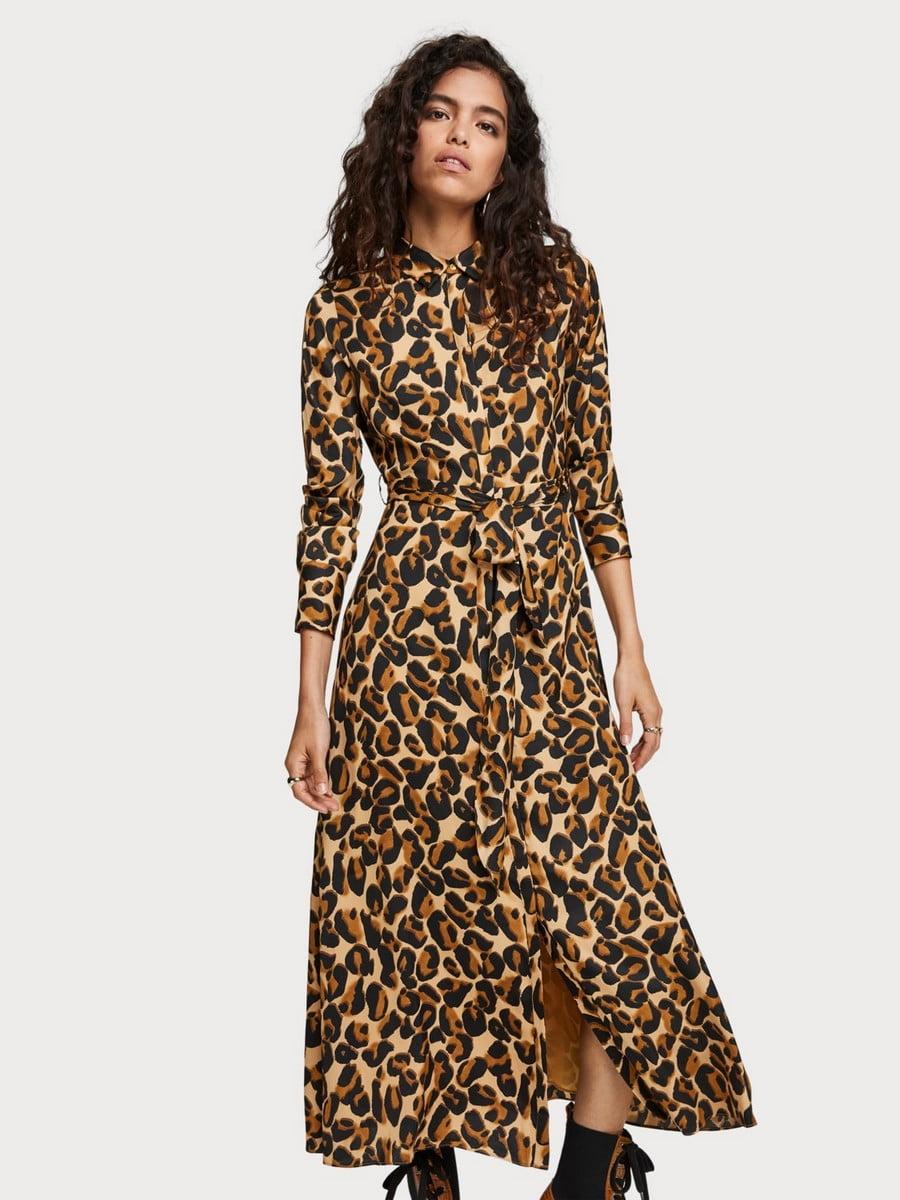 Платье в леопардовый принт   5227936