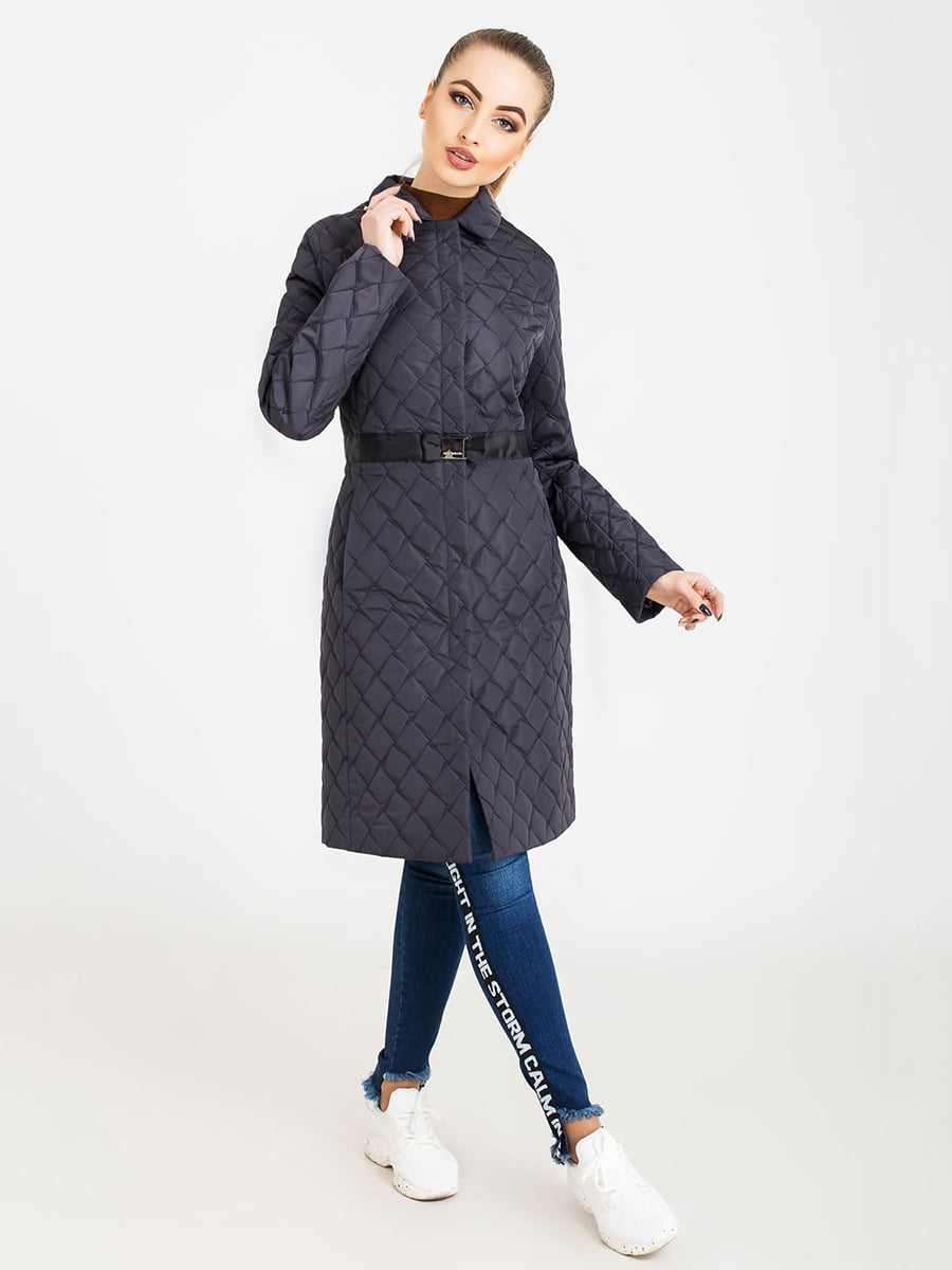 Пальто кольору графіт | 5080058