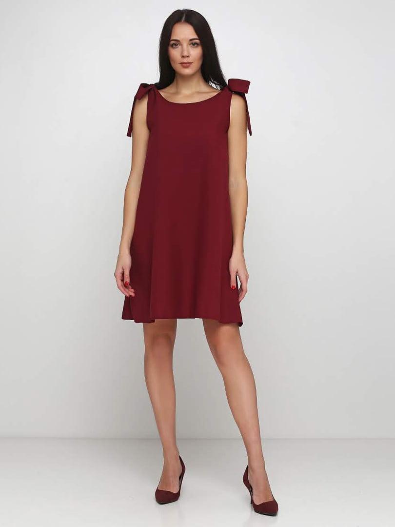 Платье бордовое | 5253170