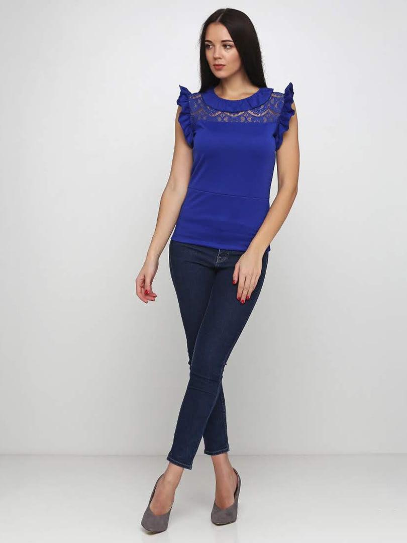 Блуза синяя   5253201
