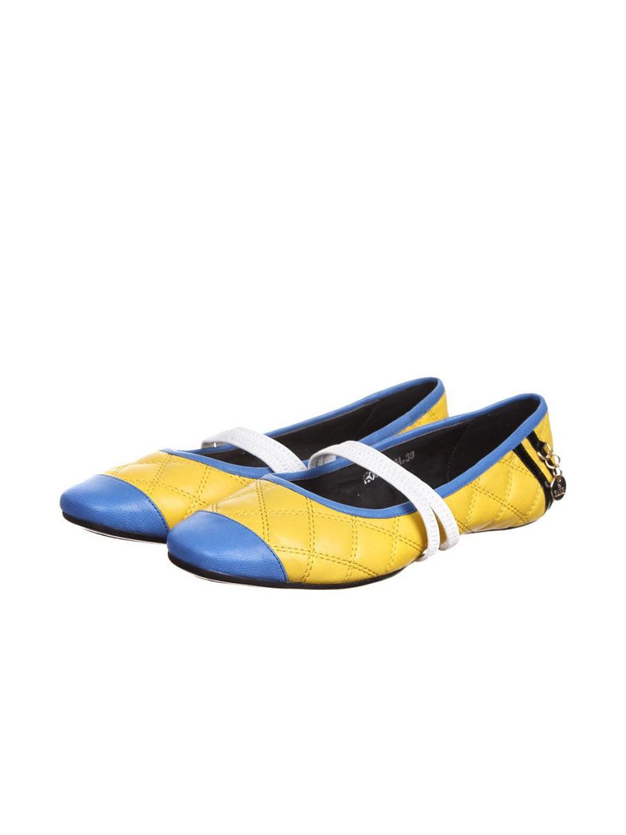 Балетки желто-синие | 5253220