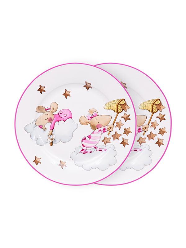 Набор тарелок (2 шт.) «Девочка-мышка» (19 см) | 5254497