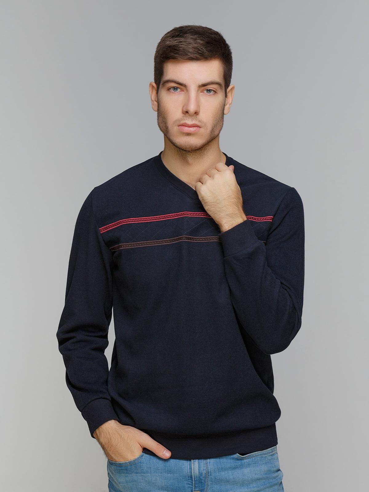 Пуловер темно-синий | 5241057