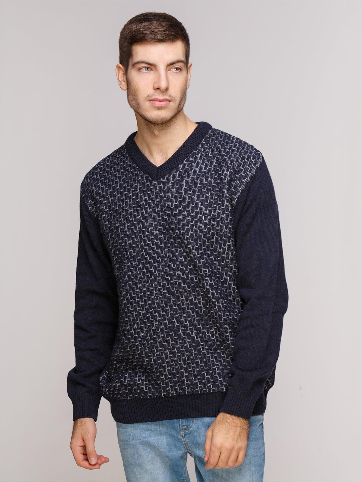 Пуловер темно-синій | 5241096