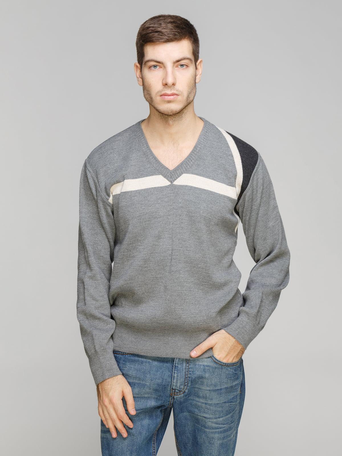 Пуловер серый | 5254877