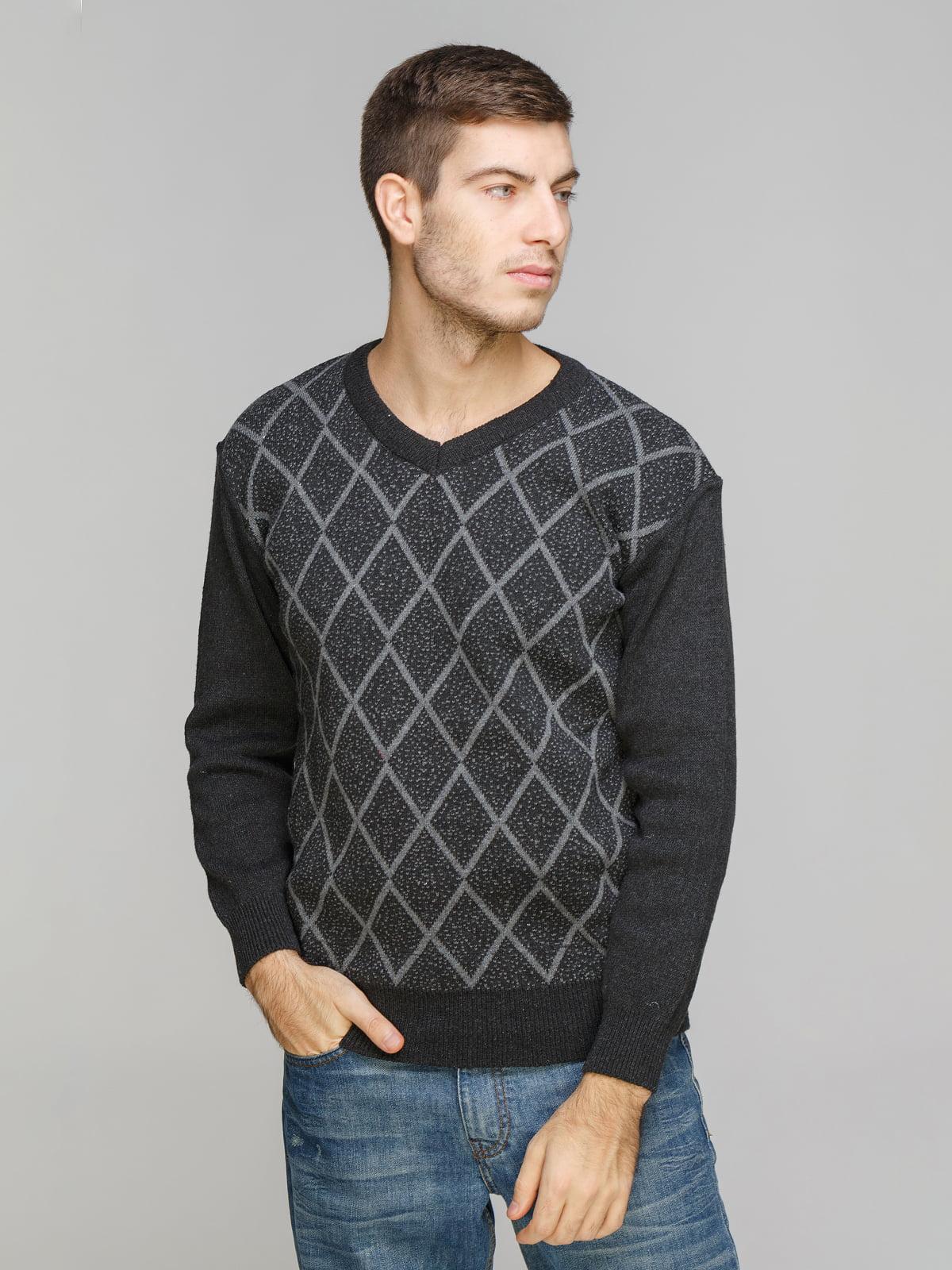 Пуловер темно-серый | 5254880