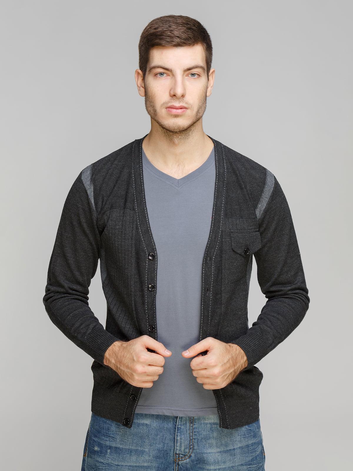Кардиган темно-серый   5254917