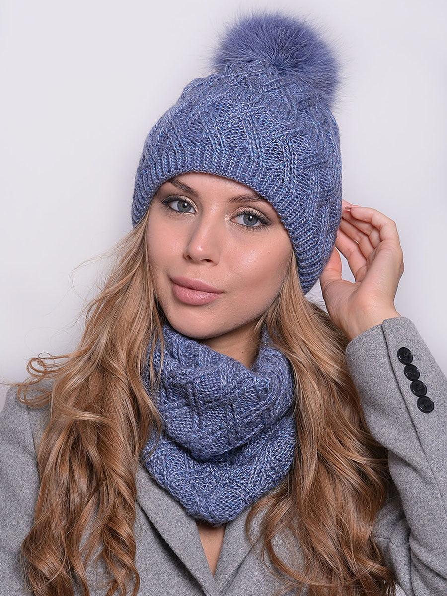 Комплект: шапка і шарф | 5259092