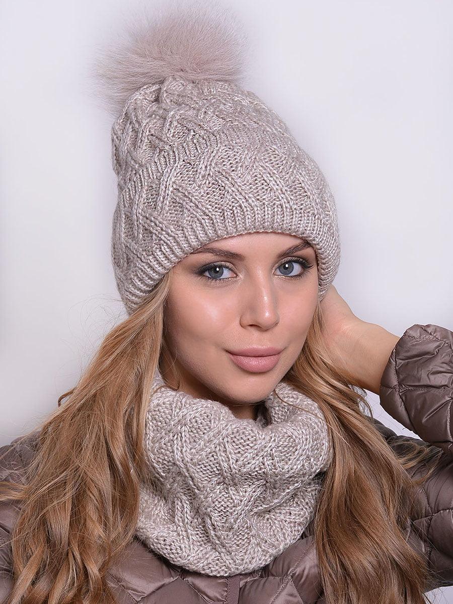 Комплект: шапка і шарф | 5259093
